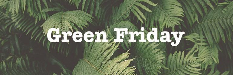 green friday duurzame kortingen
