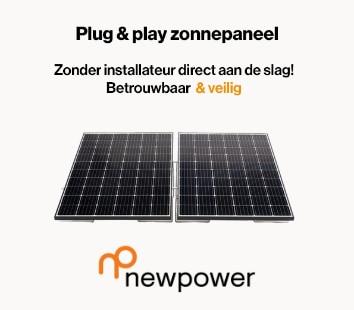 newpower plug and play zonnepaneel