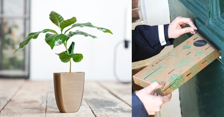 duurzaam cadeau geef brievenbus boom